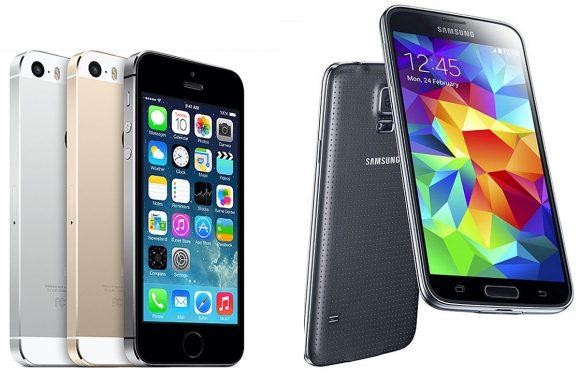 iPhone 5S VS Galaxy S5: wie wint de titanenstrijd?