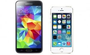 iphone 5s vs samsung s5 design