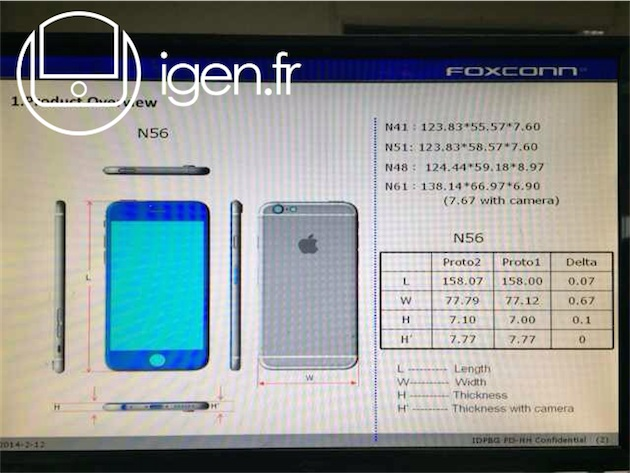 iphone 6 afmetingen kl