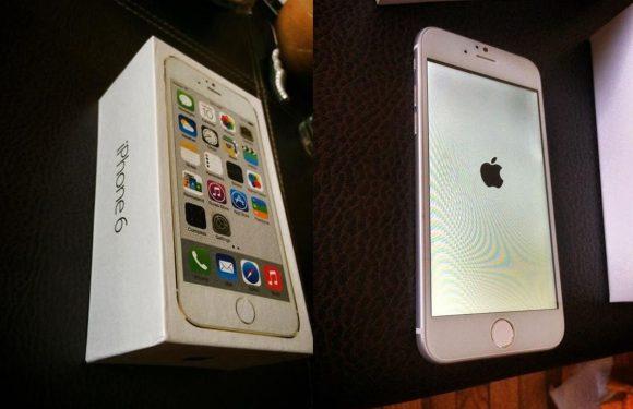 'iPhone 6 komt in dit doosje in de winkels'