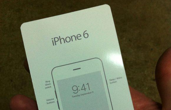 'iPhone 6 handleiding toont de datum van aankondiging'