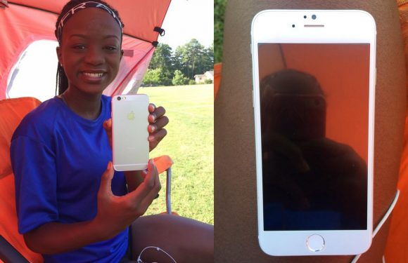 'Foto's: scholier showt iPhone 6 op Twitter'