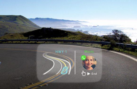 Deze HUD toont iPhone notificaties op je autoruit