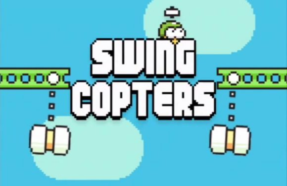 Swing Copters: nieuwe verslavende game van maker Flappy Bird