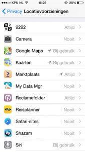 iOS 8 locatievoorzieningen