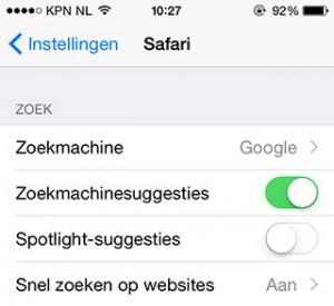 Spotlight-suggesties
