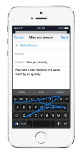 iOS 8 toetsenborden