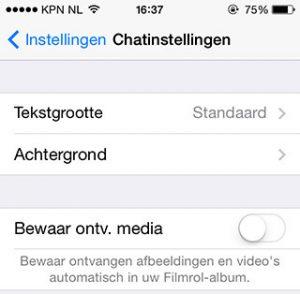 iphone leegmaken
