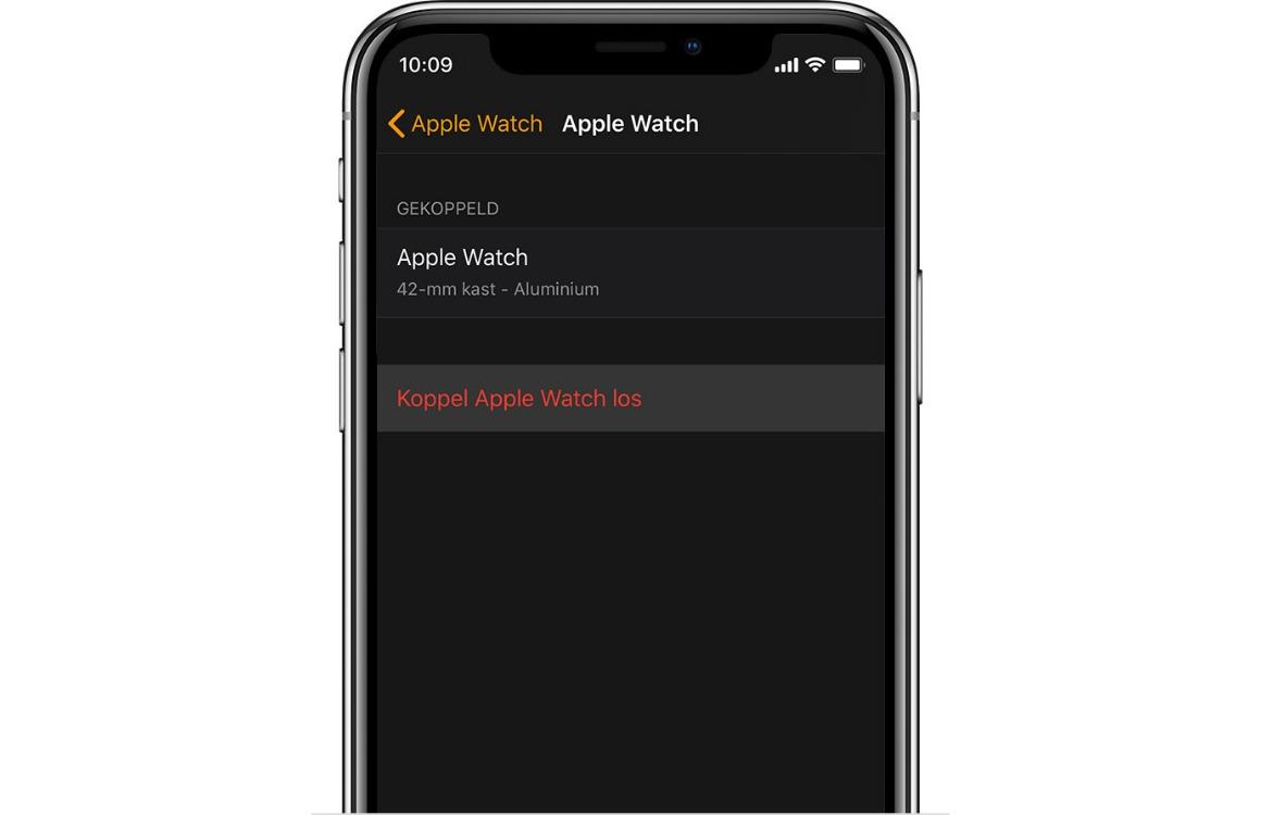 apple watch loskoppelen iphone leegmaken