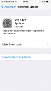 iOS 8.0.2 iOS 8 adoptie