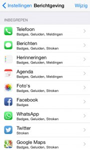 ios 8 batterij notificatie