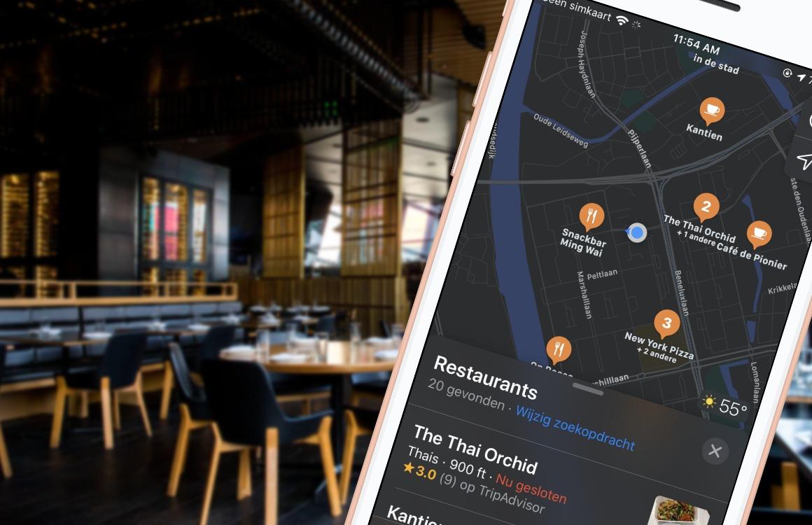 beste restaurant-apps iphone apple kaarten