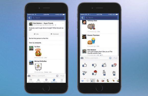 Plak nu ook stickers onder Facebook berichten in de iOS-app