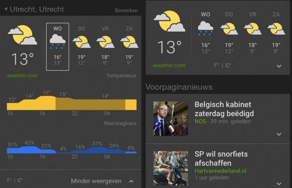 Google brengt Nieuws en weer-app uit voor iOS