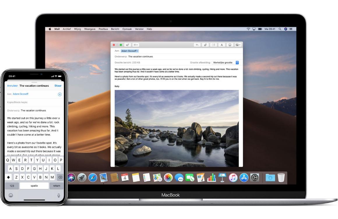 Apps doorsturen tussen iPhone, iPad en Mac(Book): zo werkt Handoff