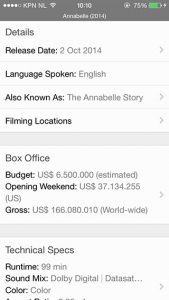 IMDb-app update