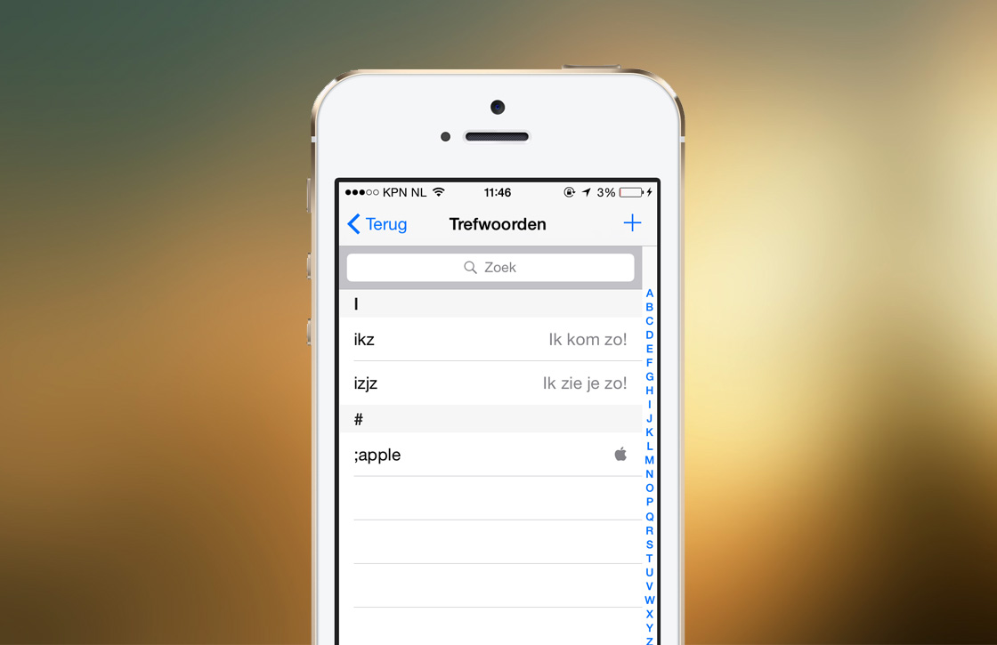 iOS 8 tip: symbolen en afkortingen maken