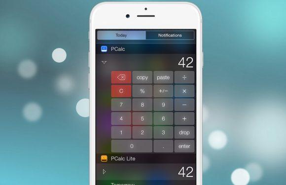 Apple cijfert calculator widget weg uit rekenmachine-apps
