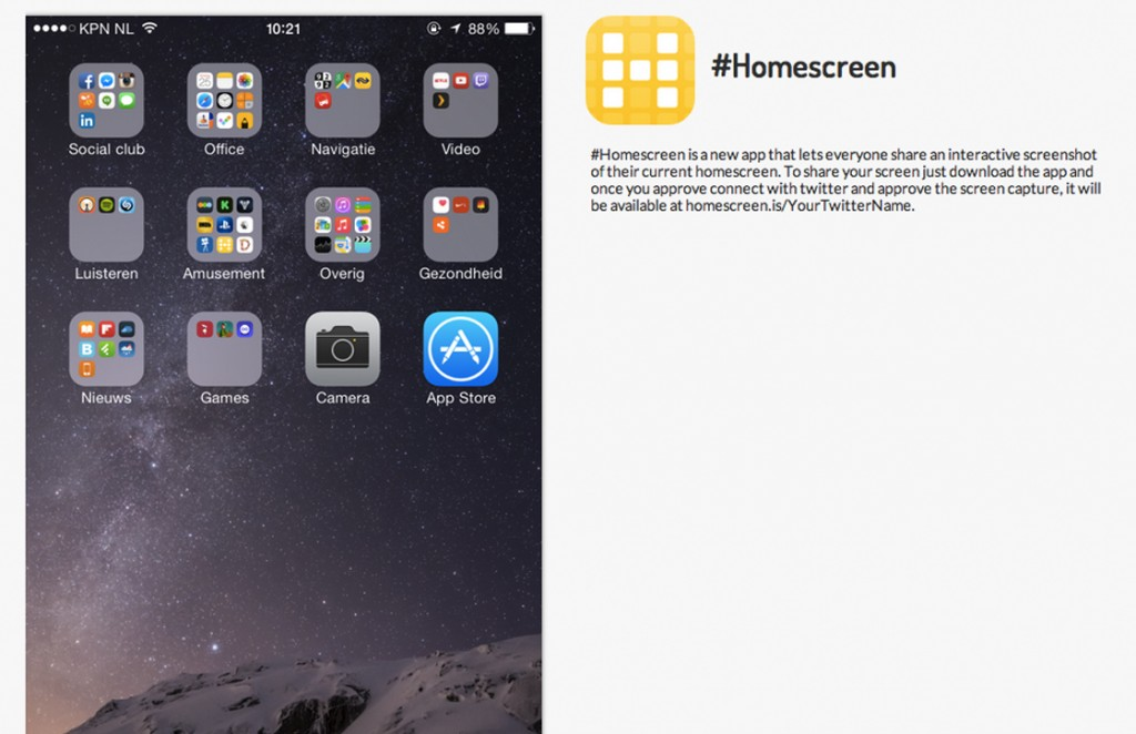 homescreen app