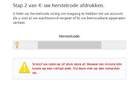 apple id herstelcode
