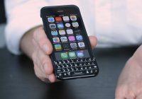 Typen maar: nieuw 'Blackberry-toetsenbord' voor iPhone op de markt