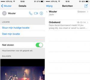 Berichten-app geluid uitzetten