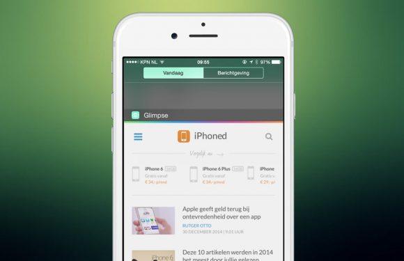 Glimpse toont je favoriete websites als handige widget