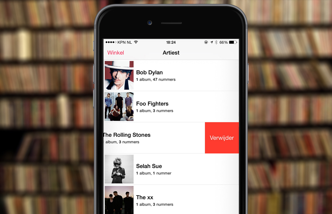 In 4 stappen muziek verwijderen in iOS 8