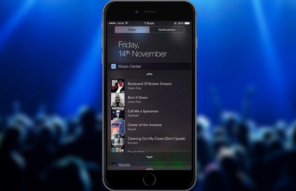 Handige app Music Center toont al je muziek in het Berichtencentrum