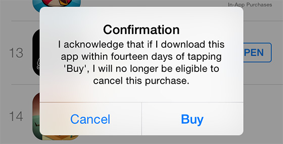 app store misbruik