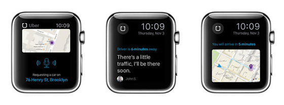 apple watch apps uber