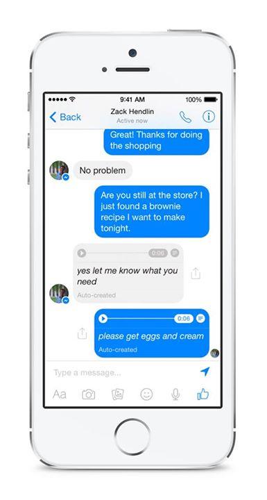 facebook messenger opname