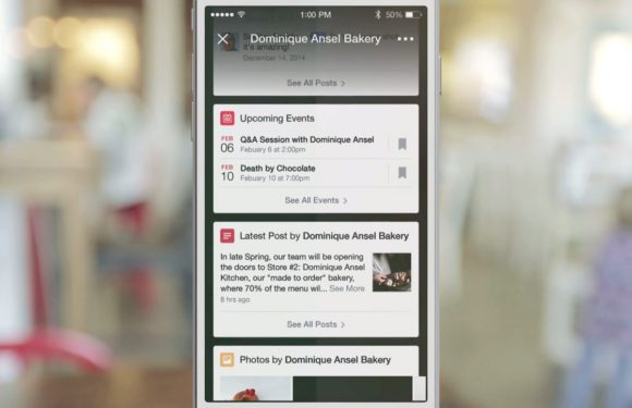 Facebook test Foursquare-achtige functie in iOS-app
