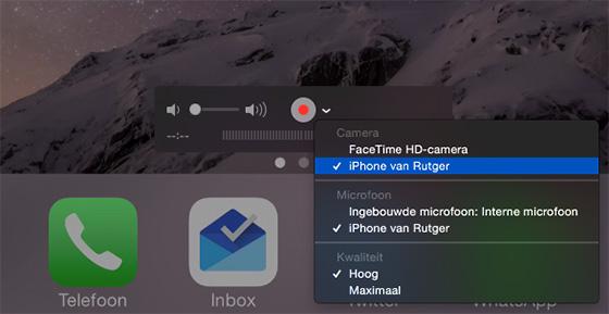 iphone scherm opname