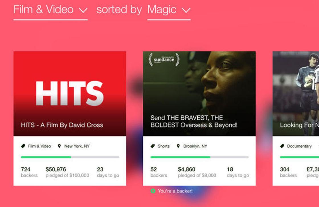 Kickstarter-app krijgt een fijne makeover op iOS