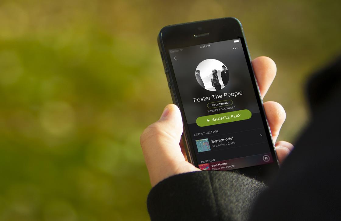 Spotify nu het populairst op mobiele apparaten