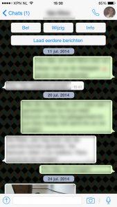 WhatsApp belknop