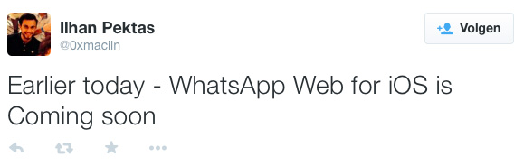 WhatsApp Web voor iOS