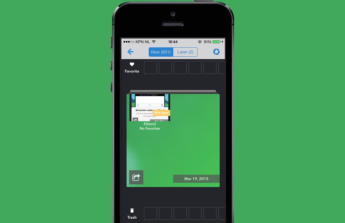In 4 stappen fotoalbums op je iPhone opruimen met Cleen