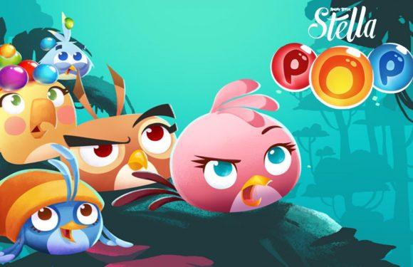 Angry Birds Stella Pop is een kleurrijke bubbelshooter