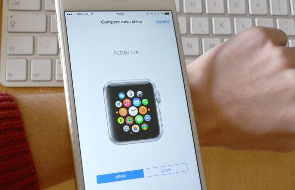 Meet welk Apple Watch formaat jou het beste staat