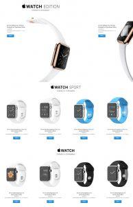apple watch prijzen
