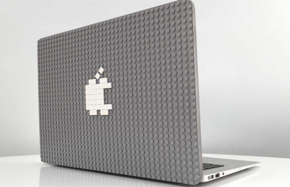Op deze MacBook case kun je bouwen met Lego-stenen