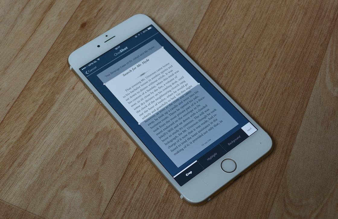 OneShot laat je tekst-screenshots delen via Twitter