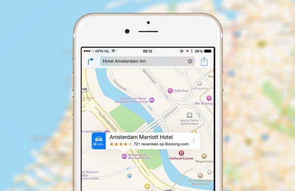 Apple Kaarten biedt meer informatie over parkeerplaatsen