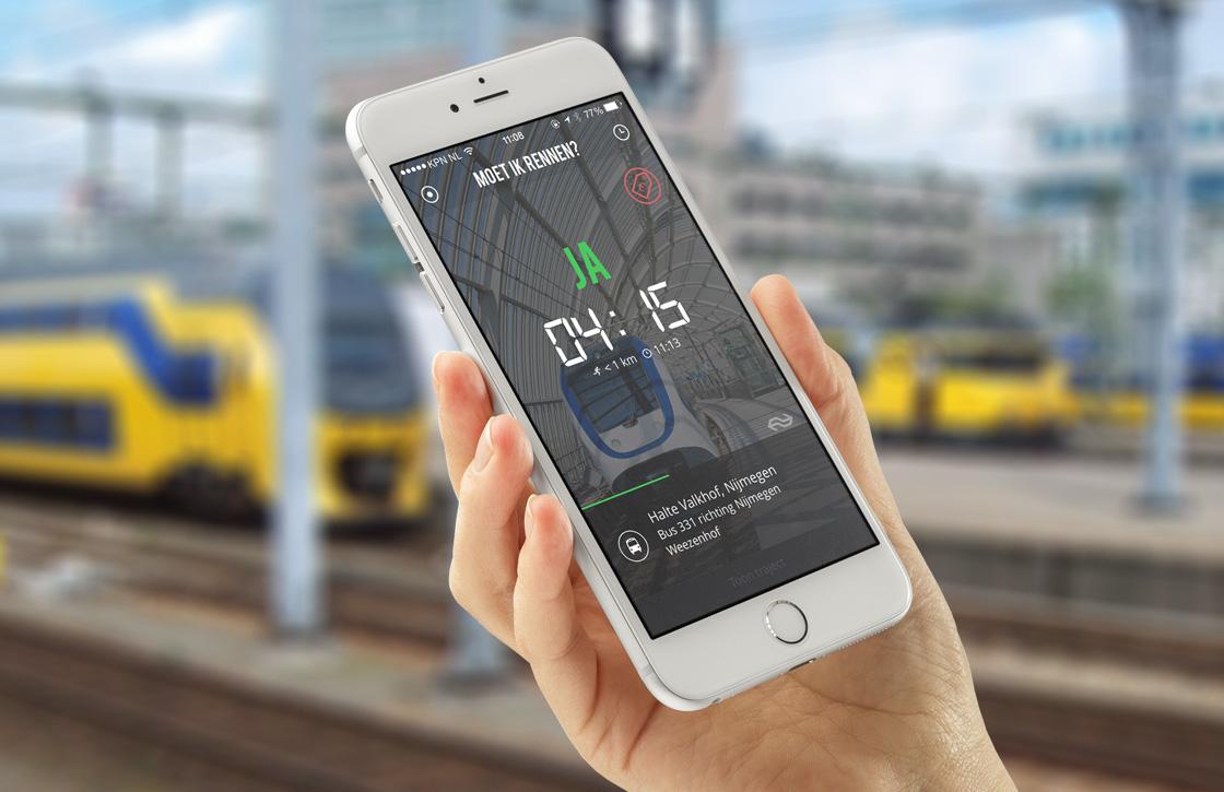 Nederlandse app toont of je moet rennen voor de trein