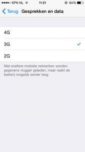 netwerkschakelaars iOS 8.3