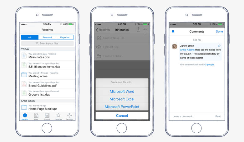 Dropbox iOS-app update