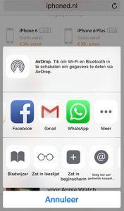 WhatsApp-deelfunctie
