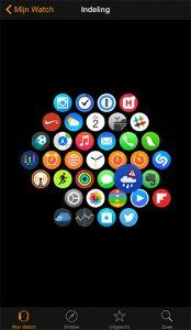apple watch homescreen